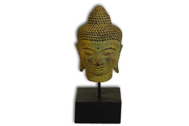 Buddha hoofd op voet 20 cm