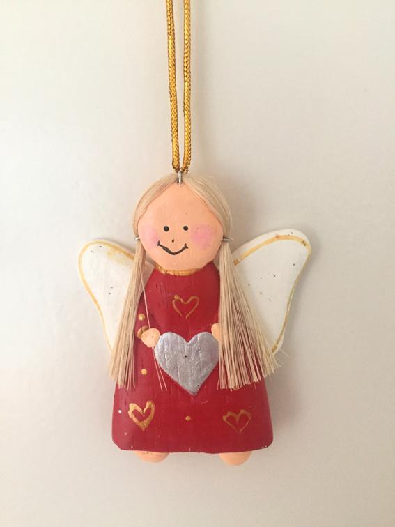 Hangende engeltjes  rood  - 5 stuks