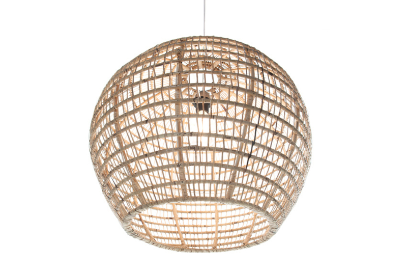 Rattan - hanglamp bol 60 cm