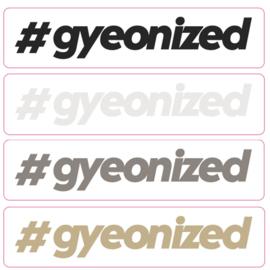 Gyeon - #gyeonized sticker - 110x25mm