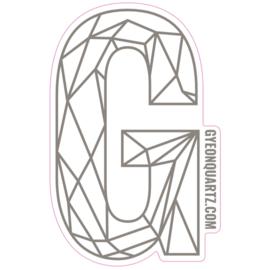 Gyeon - G Sticker Zilver - 419x270mm