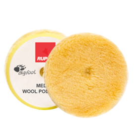 Rupes- Yellow Medium Wool Polishing Pad (verschillende maten)