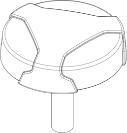 Handschroef Zwart - M10 x 1,5