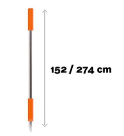 Telescopische steel 152cm - 274cm DM456