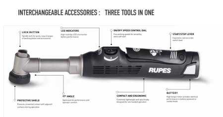 RUPES - BIGFOOT NANO IBRID MULTI-ACTION POLISHER - LONG NECK