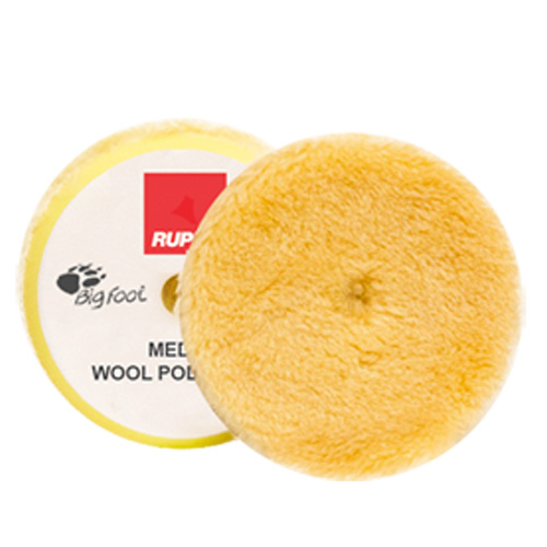 Rupes - Yellow Medium Wool Polishing Pad (verschillende maten)