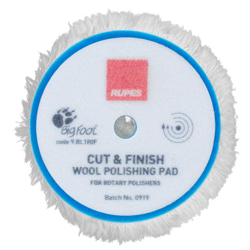 Rupes - Cut & Finish Rotary Wool Pads - 125mm