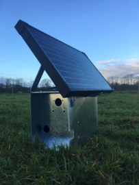 Montagekast inclusief 30 Watt zonnepaneel en 10 A laadregelaar