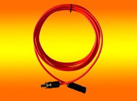 Solarkabel met 2 x MC4 stekker M/F rood 1 meter