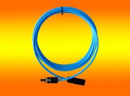 Solarkabel met 2 x MC4 stekker  M/F blauw 1 meter