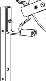 Ophangbeugel haspel (per 4 stuks)