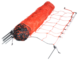 Schapennet, oranje, 90cm, enkele pen