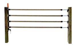 Gallagher Meerdraadse doorgangsset 4 x 40mm lint bruin van 1 tot 6 meter