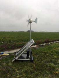 Plasdras systeem 2 x 130 Watt, compleet inclusief 90 watt windmolen,