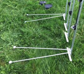 Gegalvaniseerde steunpoot voor haspel hoekpaal