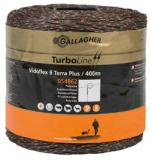 Gallagher Vidoflex 9 TurboLine Plus bruin 400m