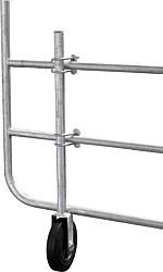 Steunwiel voor verstelbare poort
