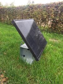 Montagekast inclusief 50 Watt zonnepaneel en 10 A laadregelaar