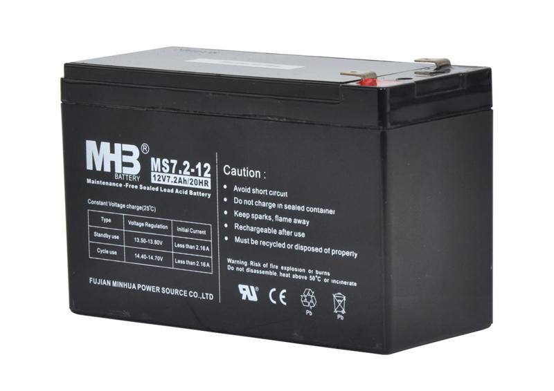 Baterrij 12V  7,2 Ah voor S100, S200, S400