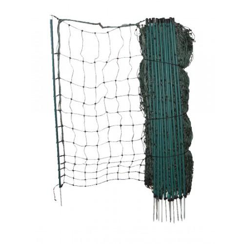 Veiligheidsnet / Kippennet 105cm 50m enkele pen