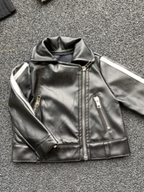 Leatherlook jacket with stripe