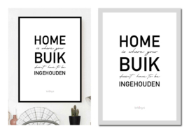 """Lifestyle poster """"Home is..."""""""