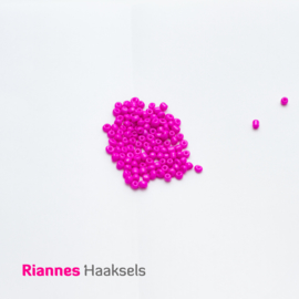Rocailles 4 mm Fluor roze - 161245