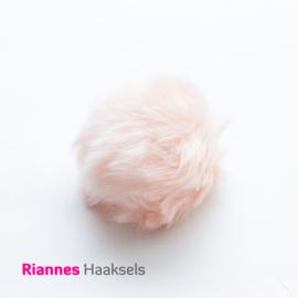 Pompon kunstbont Licht roze - 17513
