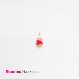 Kwastjes Roze met rood - 18435
