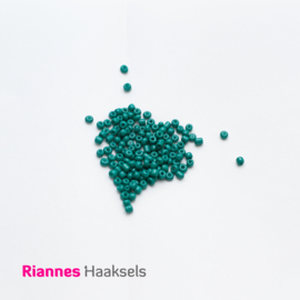 Rocailles 4 mm Blauw groen - 160658