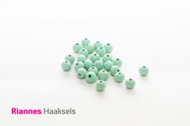 Houten kralen 8 mm mint - 17226