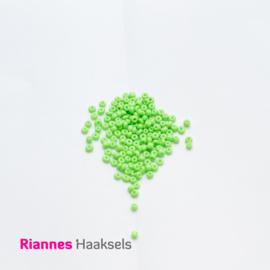 Rocailles 4 mm Fluor groen - 161246