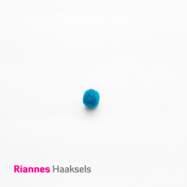 Mini pompon blauw - 170322