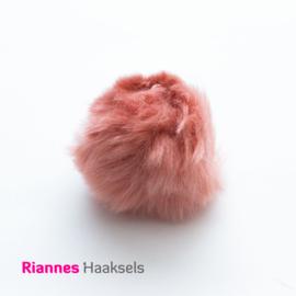 Pompon kunstbont Oud roze - 17506