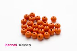 Houten kralen 8 mm oranje - 014
