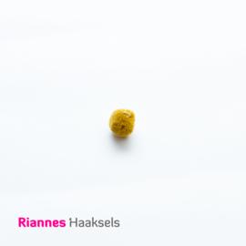 Mini pompon oker / mosterd geel - 17621