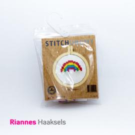 Borduurpakket Regenboog - 5 cm