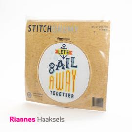 Borduurpakket Sail away - 15 cm