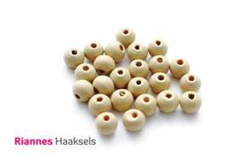 Houten kralen 8 mm beige - 16638