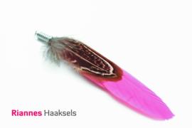 Duo veer spiraal fuchsia roze