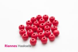 Houten kralen 8 mm koraal rood - 16624
