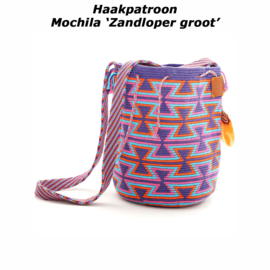 Haakpatroon Mochila 'Zandloper groot'