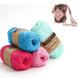 Vivid Blue, Shocking Pink, Tulip en Chrystalline 'Aztek klein'