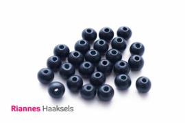 Houten kralen 8 mm nacht blauw - 15716