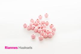 Houten kralen 8 mm zacht roze - 17232