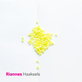 Rocailles 4 mm Fluor geel - 161249