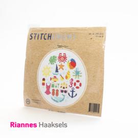 Borduurpakket Strand - 15 cm