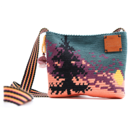 Garenpakket 'Zonsondergang'; Jet Black, Rich Coral, Shadow Purple, Spruce en Sweet Orange