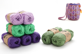 Delphinium, Apple Granny, Lavender en Sage Green 'Zandloper groot'