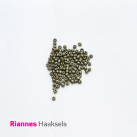 Rocailles 4 mm Olijf groen - 161241